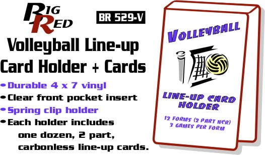 Volleyball Line Up Card Holders