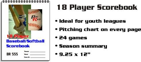 18 Player Scorebook