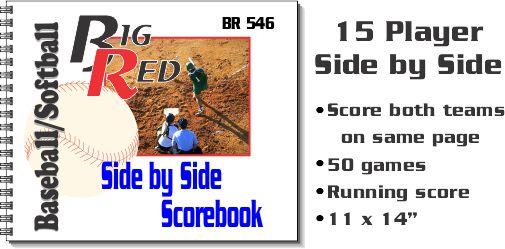 15 Player Side by Side Scorebook